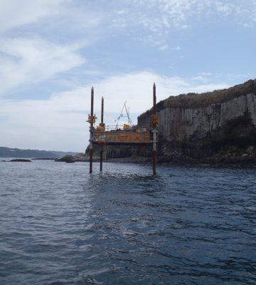 向島沖海上ボーリング調査(風力発電建設に伴う基礎調査(№1向島沖)