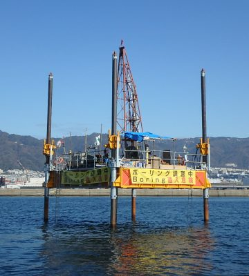 兵庫県神戸市海上調査ボーリング